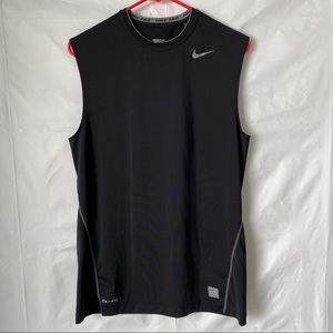 Nike Pro Black Tank Top Gym Running M